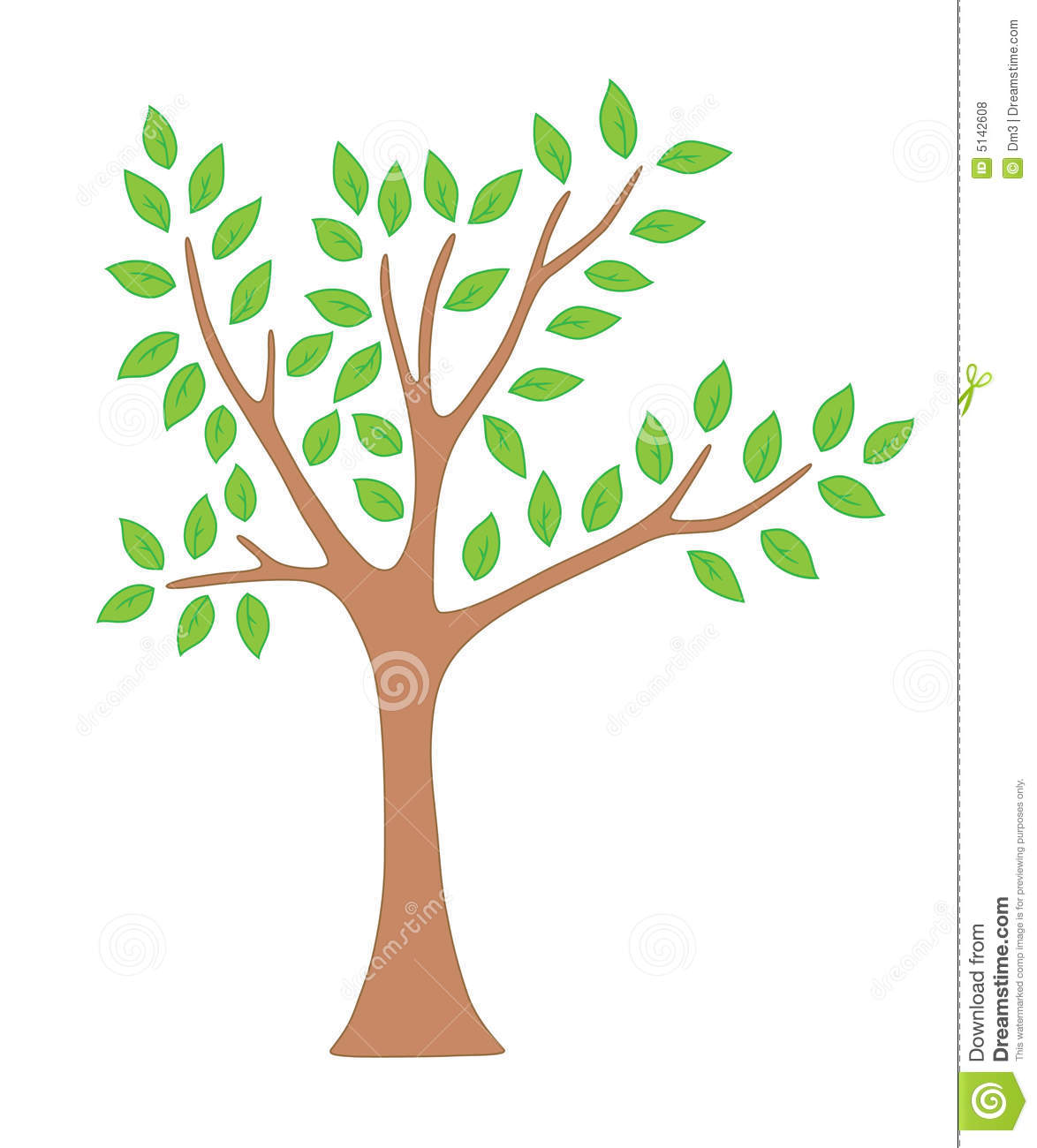 Tree Clipart With Leaves.