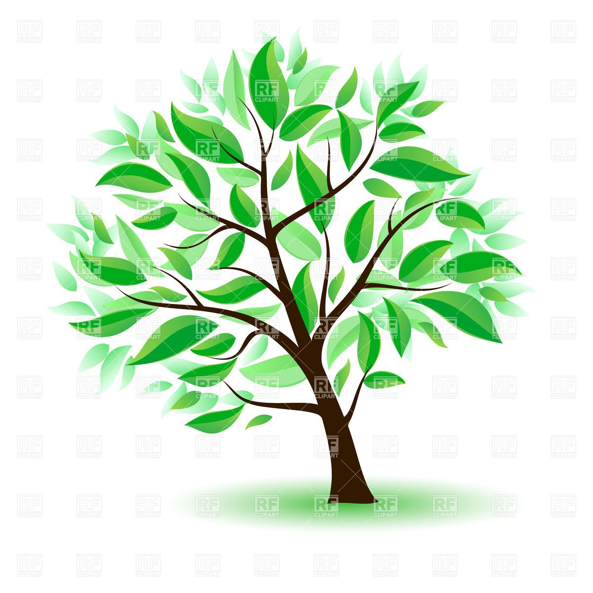 Clipart Tree With Branches And Leaves.