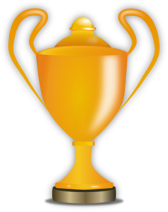 Free Clipart Of A Trophy.