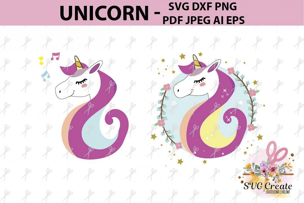 Unicorn clipart, Unicorn svg, Unicorn vector, cut file, pdf.