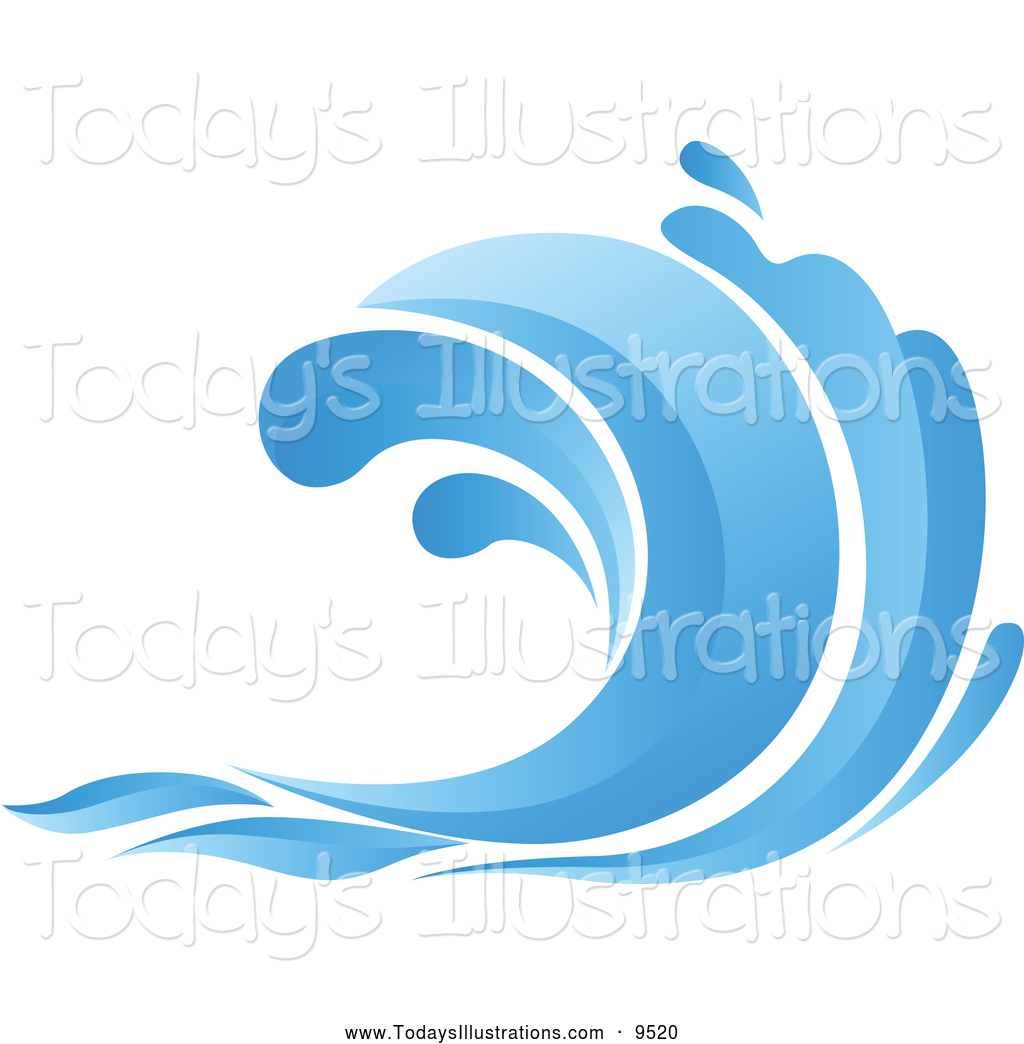 1809 Wave free clipart.