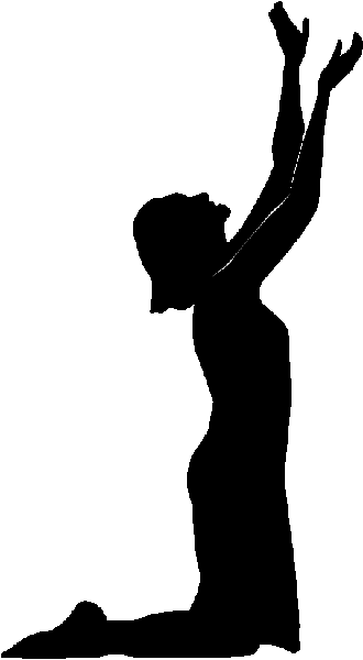 Clipart Of A Woman And Man Praying.