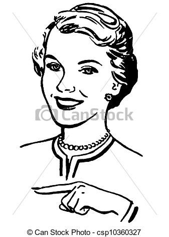 Woman Clipart Black And White.