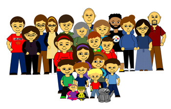 People Clip Art Adults & Worksheets.