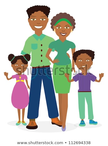 Vector Images, Illustrations and Cliparts: African American family.