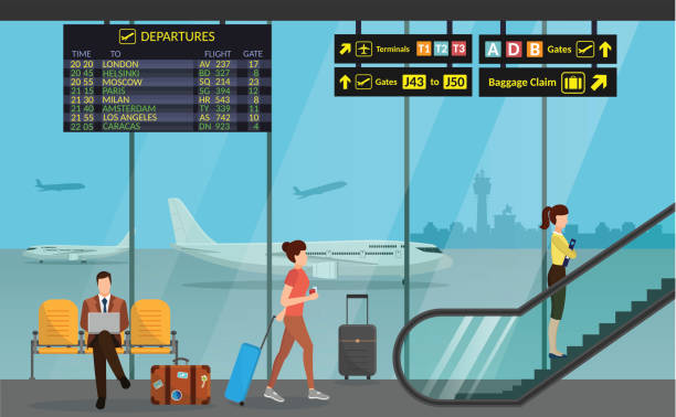 Best Airport Illustrations, Royalty.