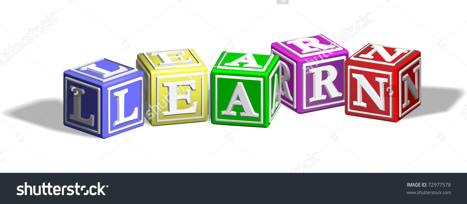 Alphabet Letter Blocks Forming Word Learn Stock Vector 72977578.
