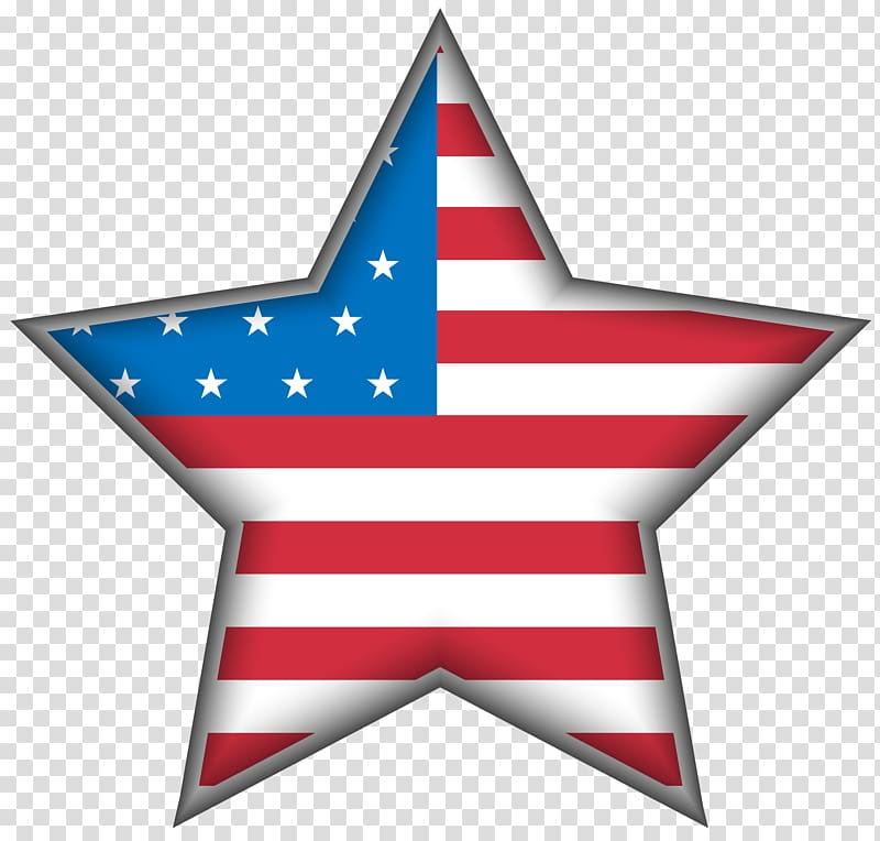 Flag of America star , United States Independence Day , USA.