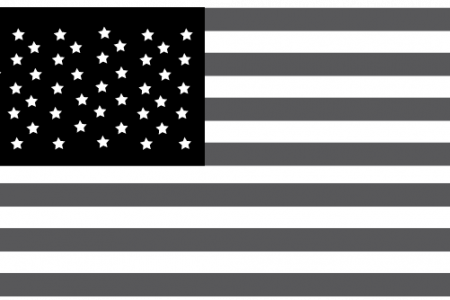 clipart of american flag in black and white