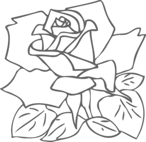 Outline Rose Clip Art at Clker.com.
