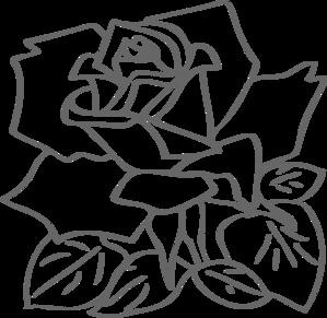 Outline Rose Clip Art at Clker.com.