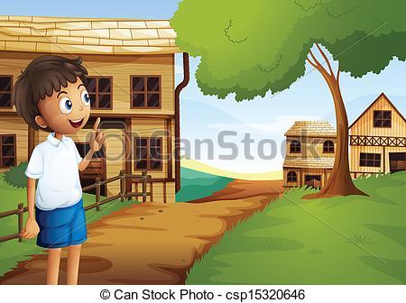 Clipart Of An Village Boy.