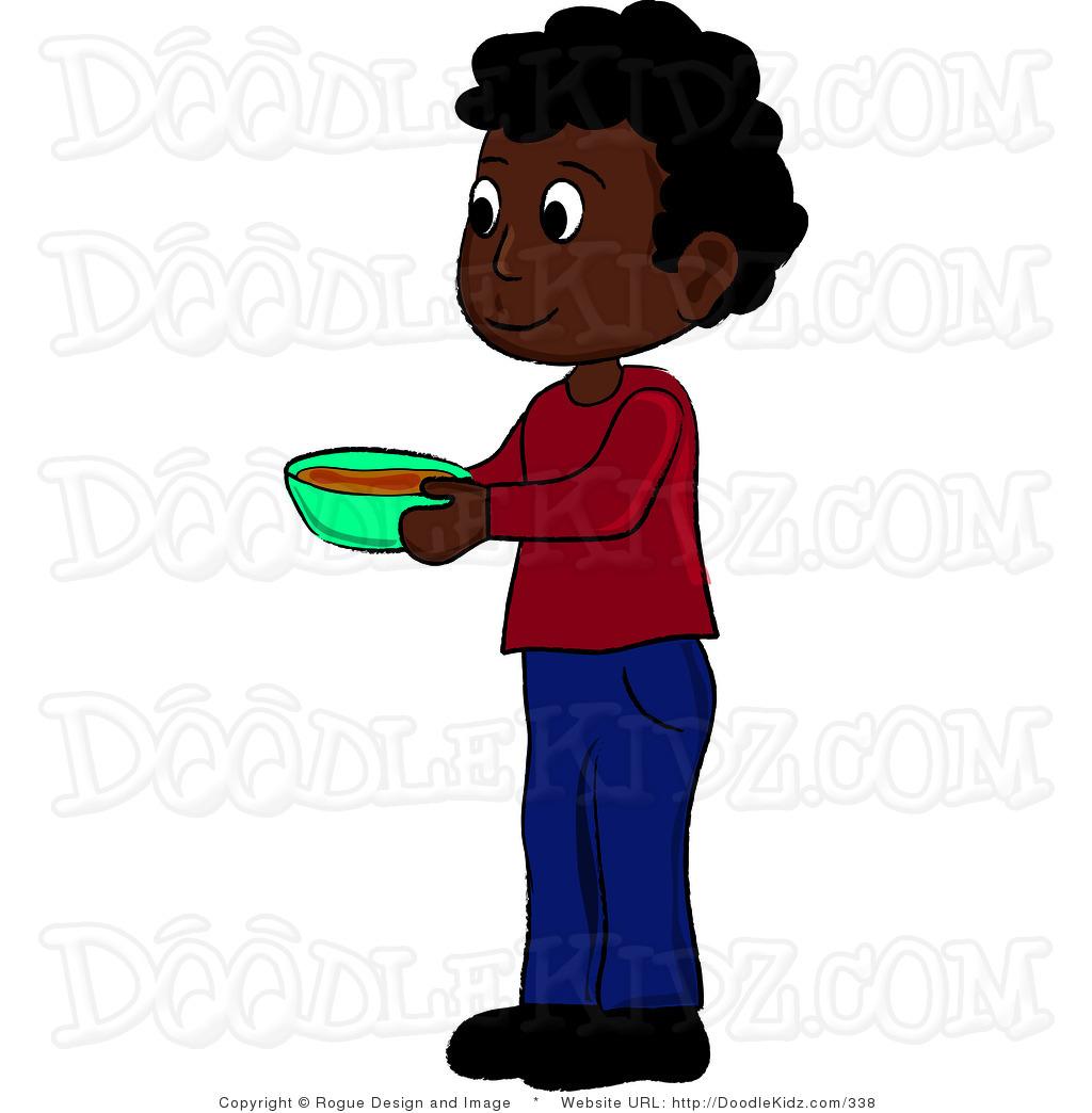 Clipart Of An African Boy.