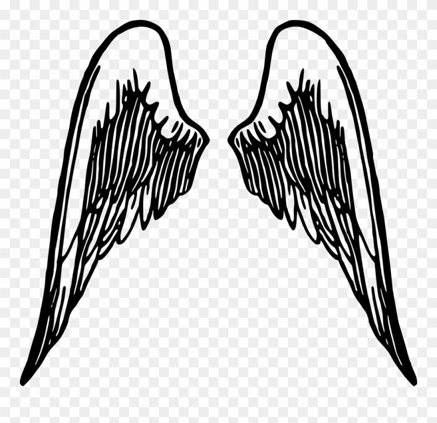 Fallen Angel Clipart Line Art.