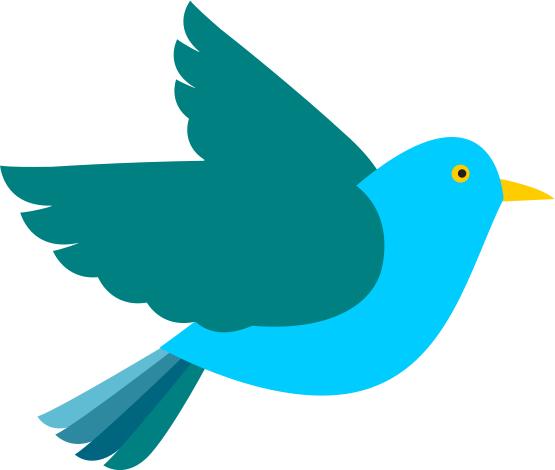 clip art bird blue.