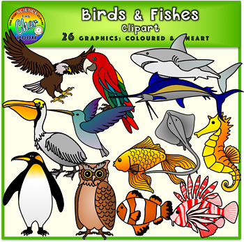 Birds and Fishes Clipart (Animals).