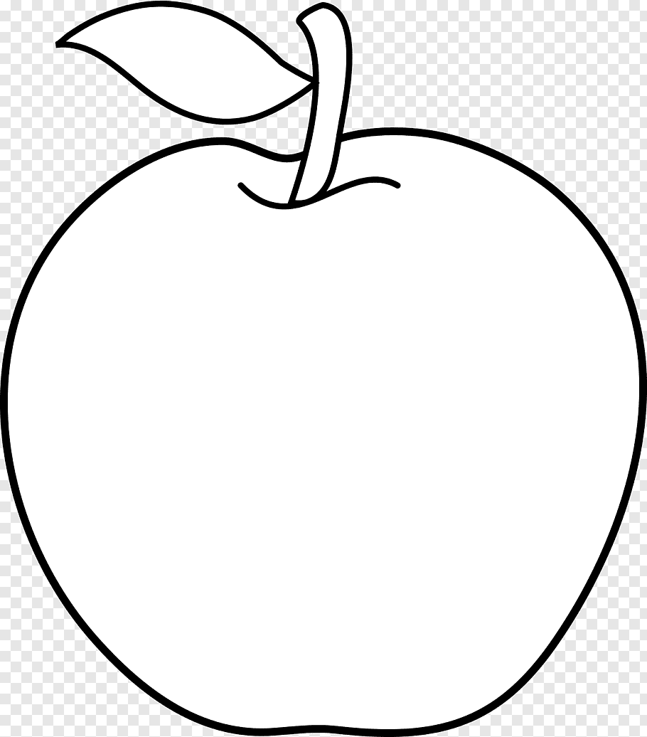 Apple, Black and white Line art Cartoon, White Apple s free.
