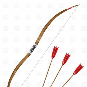 Free Bow And Arrow Clipart Outline Image.