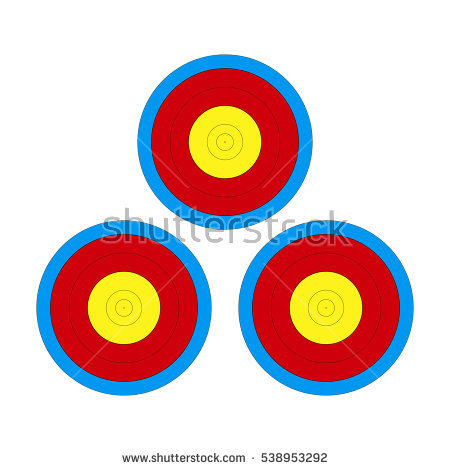 Archery Target Face Stock Images, Royalty.