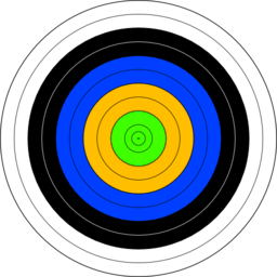 Fita Official Face Archery Target Clipart.