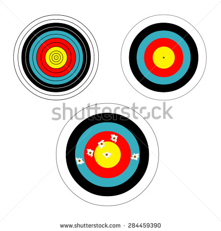 Archery Target Stock Images, Royalty.
