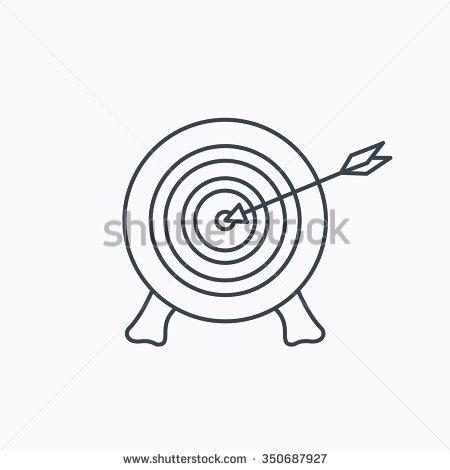 Target Arrow Icon Archery Aiming Sign Stock Vector 336948575.