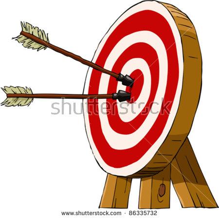 Archery Bullseye Stock Images, Royalty.