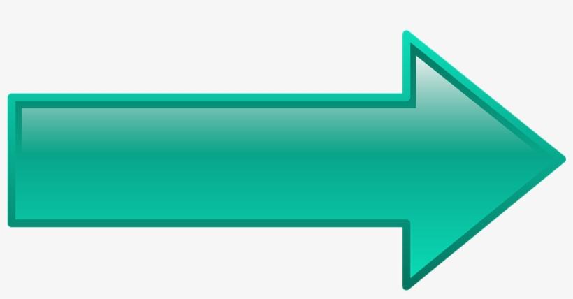 Direction Clipart Teal Arrow.