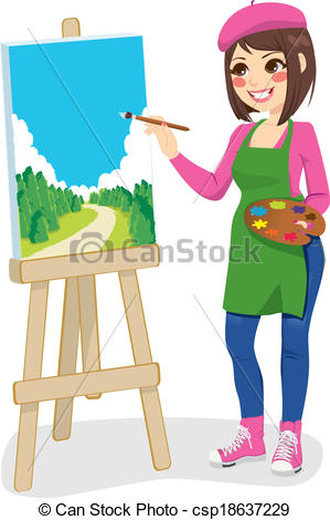 Female Artist Clipart.