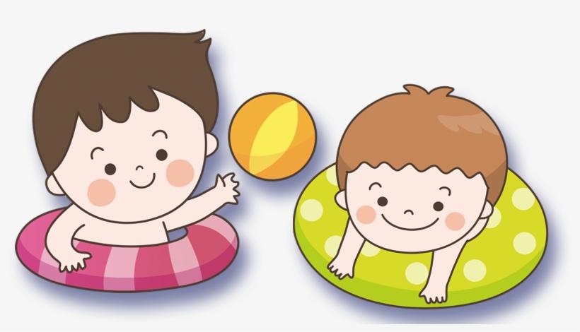 Child Swimming Clipart.