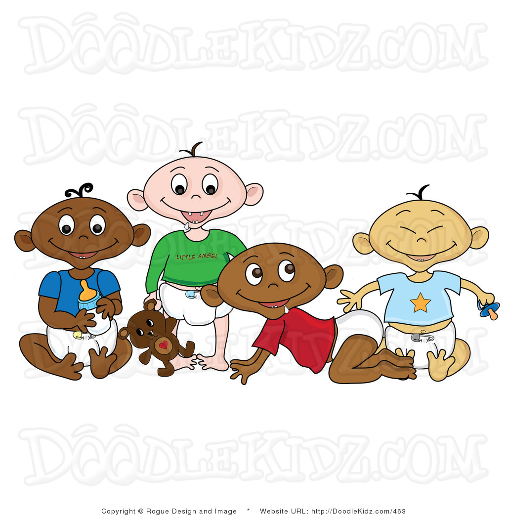 Babies Clipart Group.