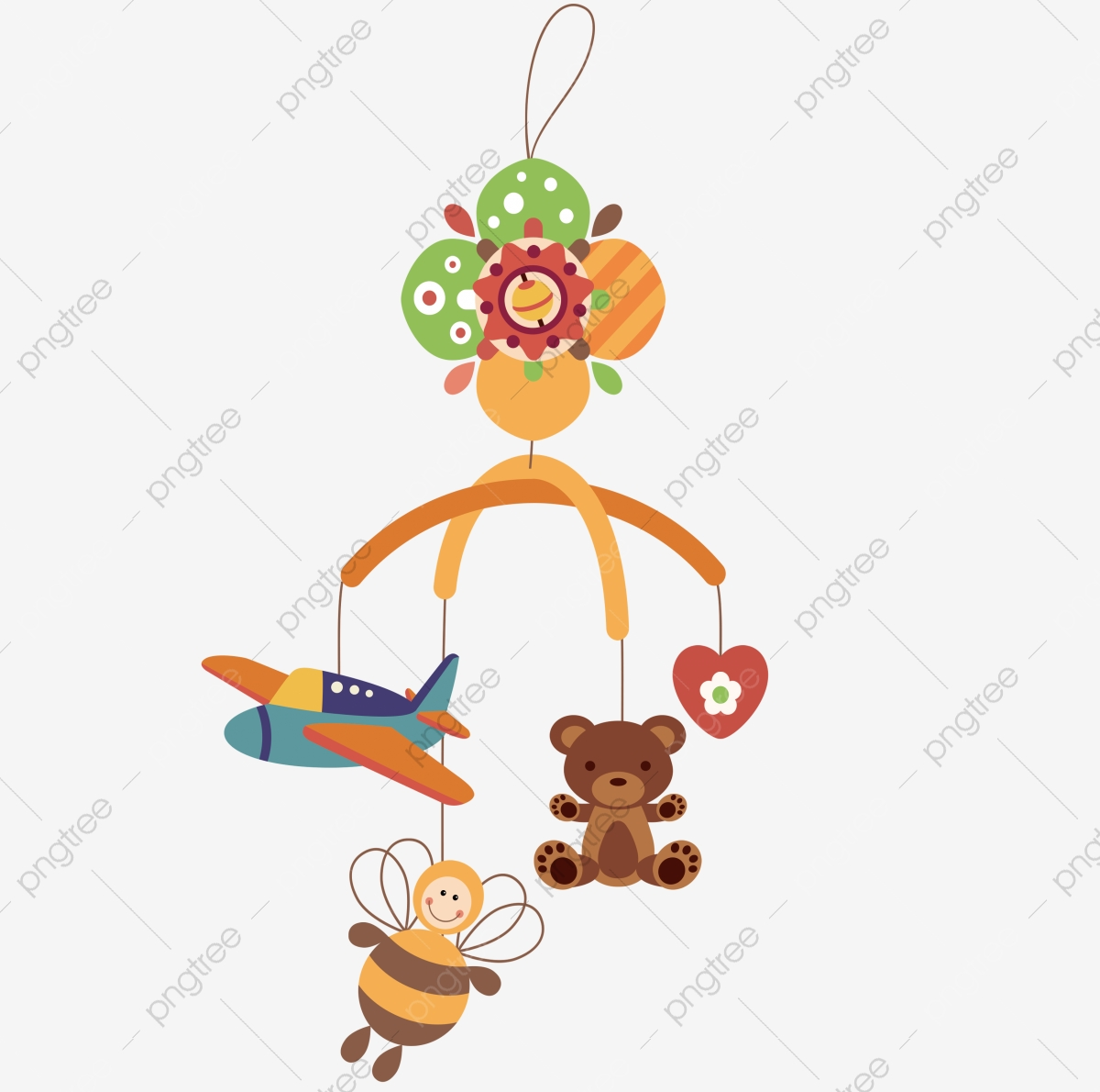 Lying On The Floor To Play Toys Baby, Toys Clipart, Baby Clipart.