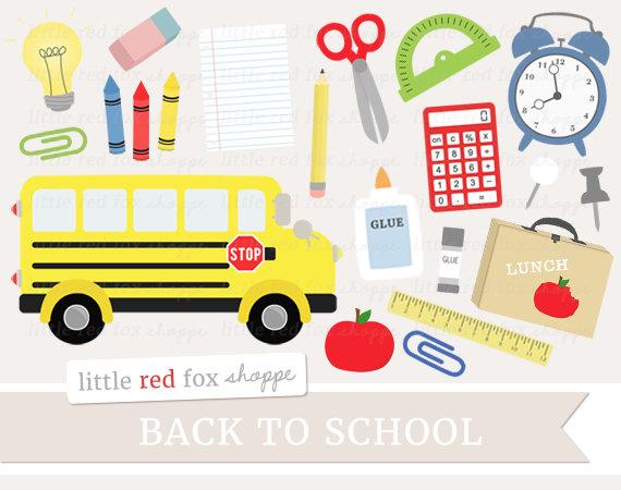1373 School Supplies free clipart.