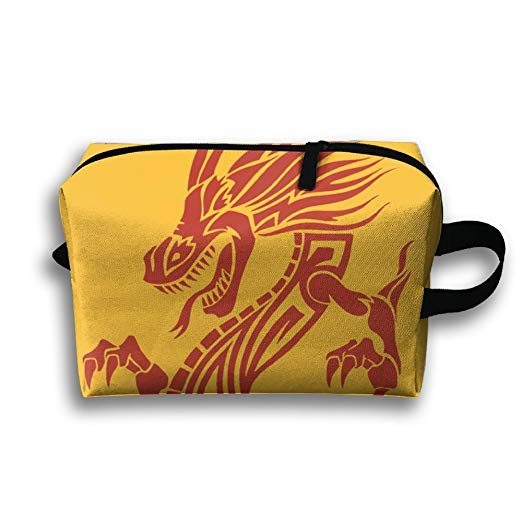Amazon.com: Dragon Clipart Cosmetic Bags Makeup Organizer.