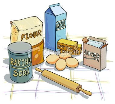 Clipart Of Baking Ingredients.