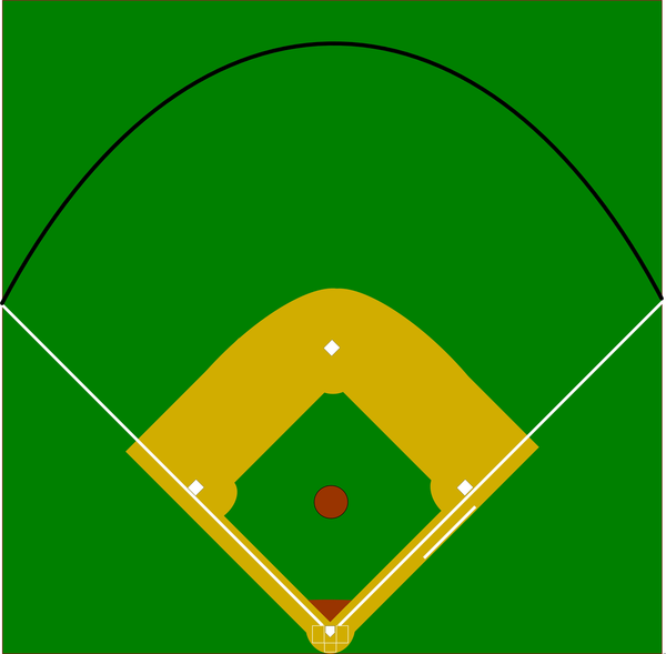 Free Clipart Of Baseball Diamond.
