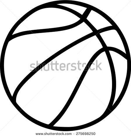 Basketball Outline On White Background Stock Vector 275698250.