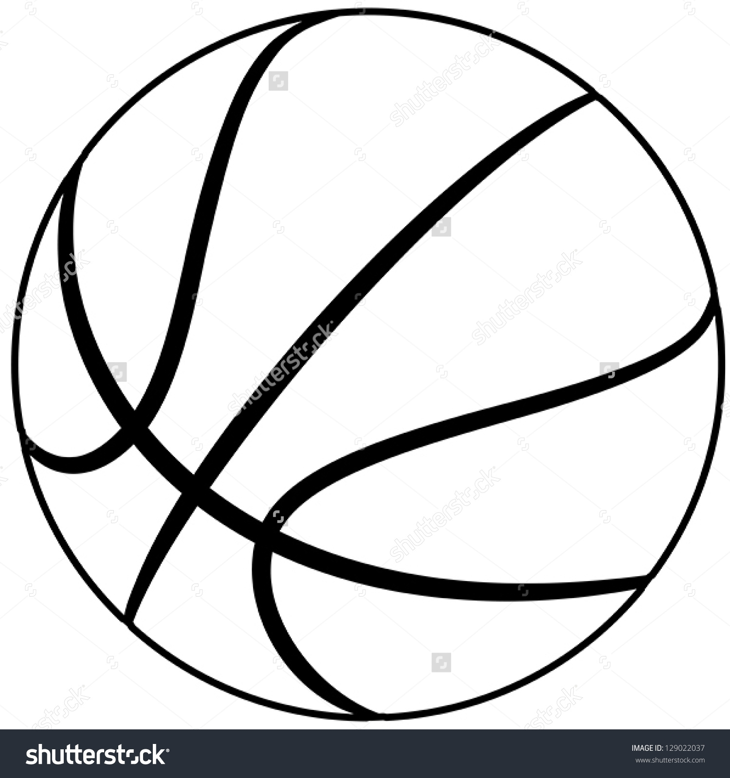 Basketball Outline Clip Art Pictures to Pin on Pinterest.