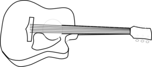 Guitar Outline Template.