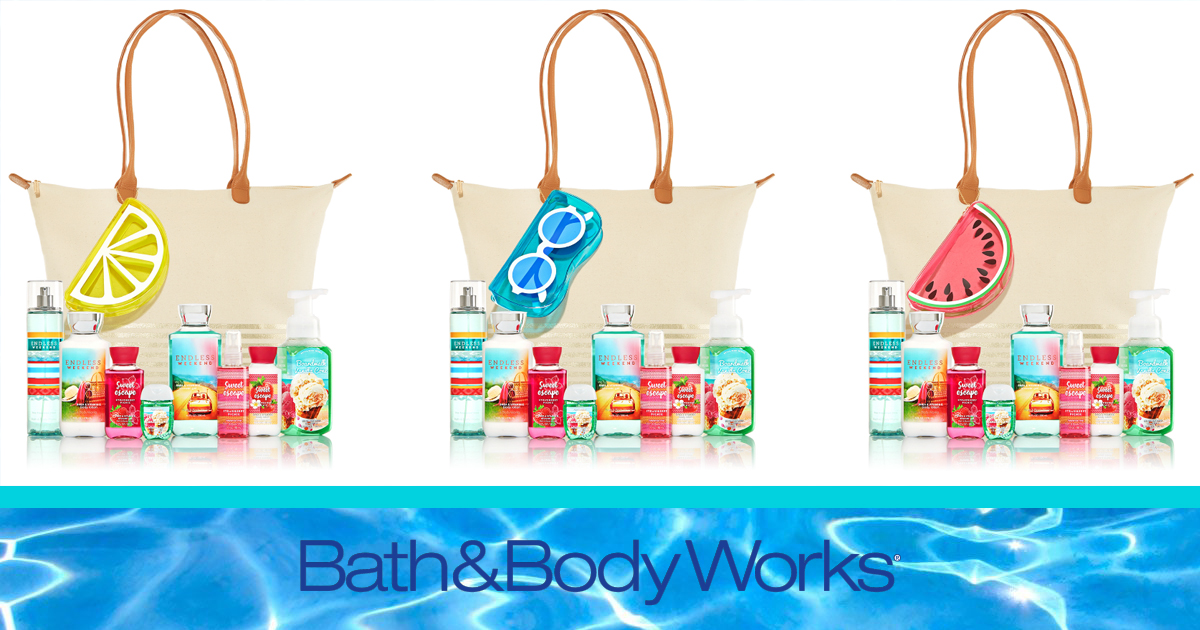 Bath & Body Works: Perfect Summer Tote ONLY $25 with ANY $30.