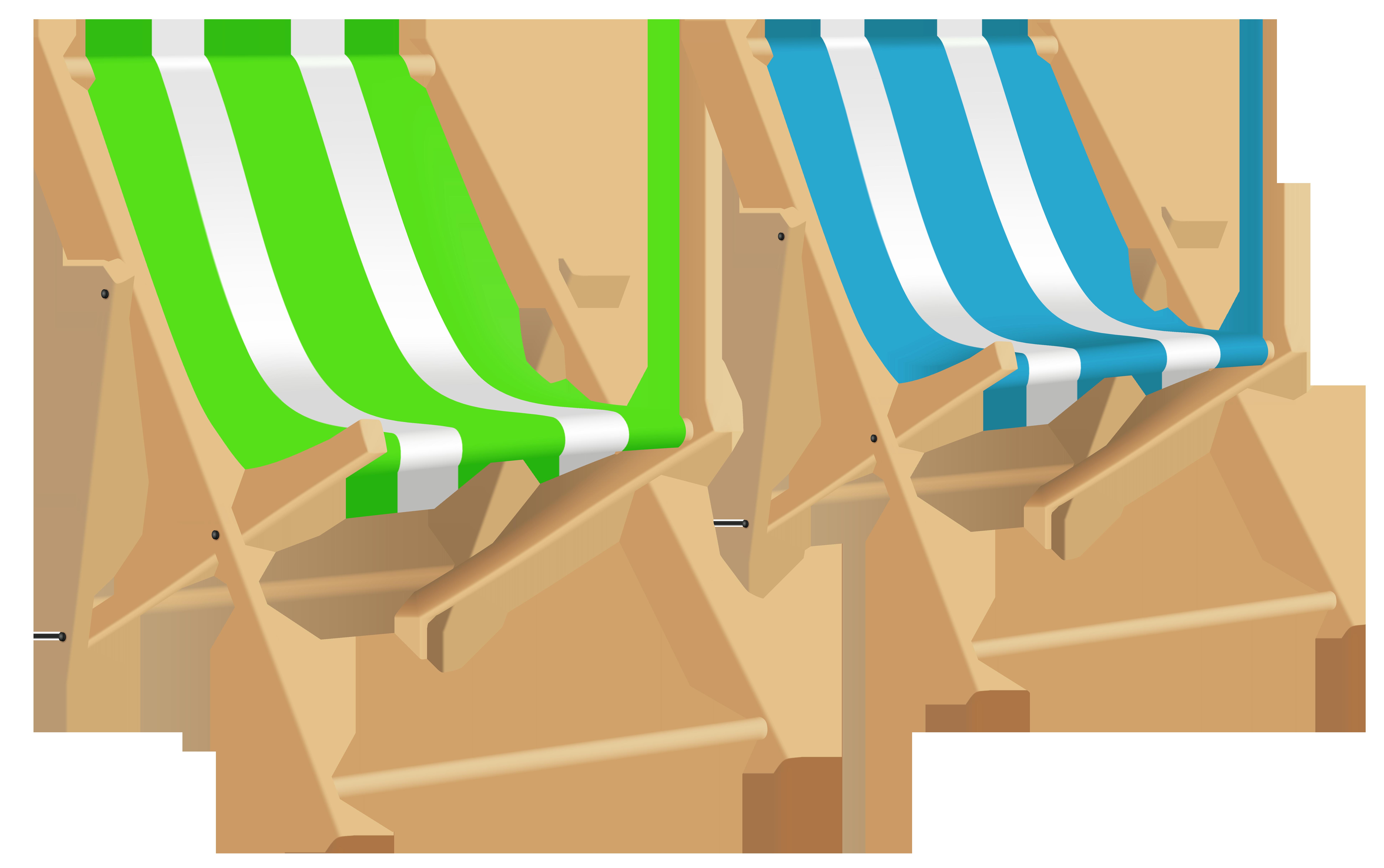 Beach Chairs PNG Clip Art.