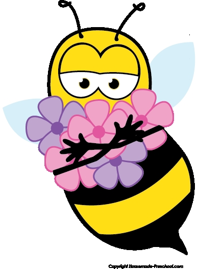 Clip Art Of Flowers And Bees Bee Clipart » Clipart Station.