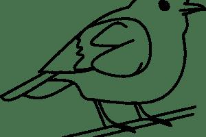Birds black and white clipart 1 » Clipart Portal.