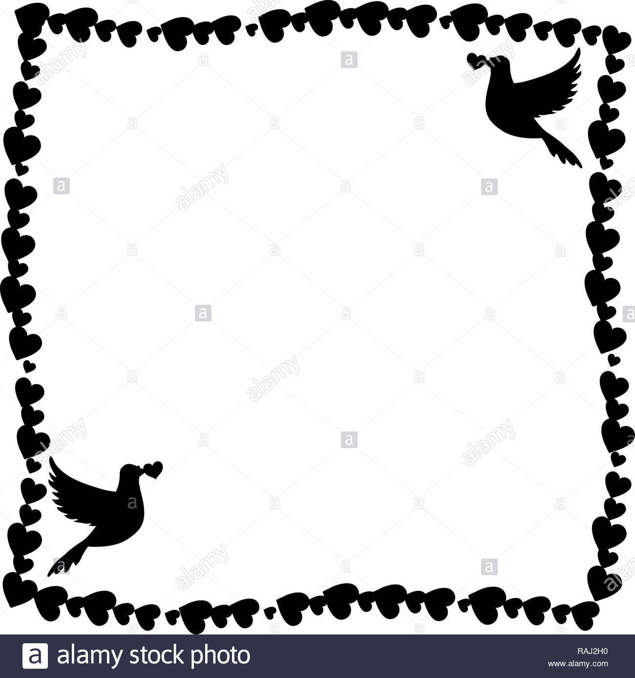 Clip Art And Illustration Birds Black and White Stock Photos.