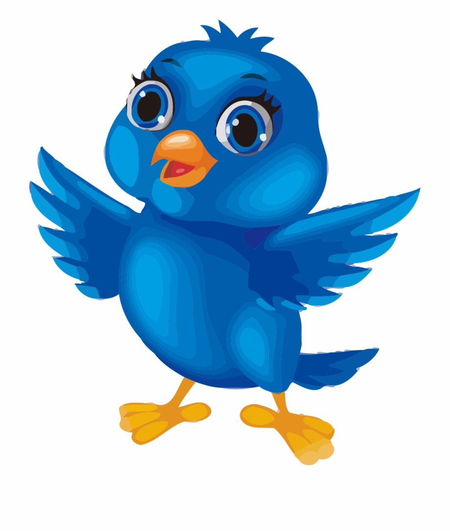 Blue Bird Image Cartoon Clipart Png.