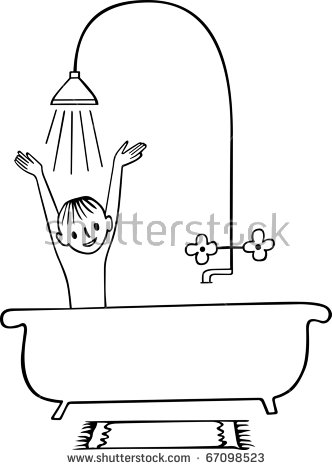 Taking A Shower Stock Vectors, Images & Vector Art.