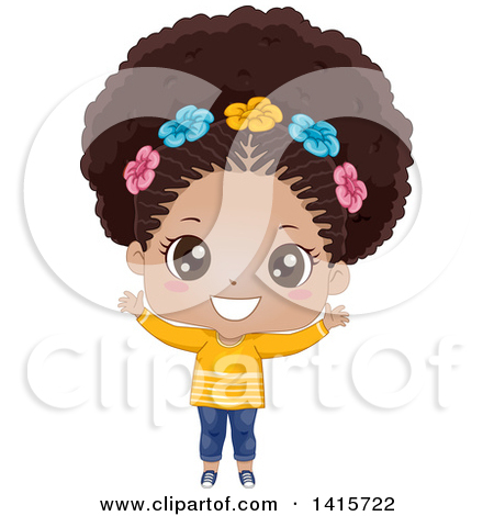 clipart of black girl #13