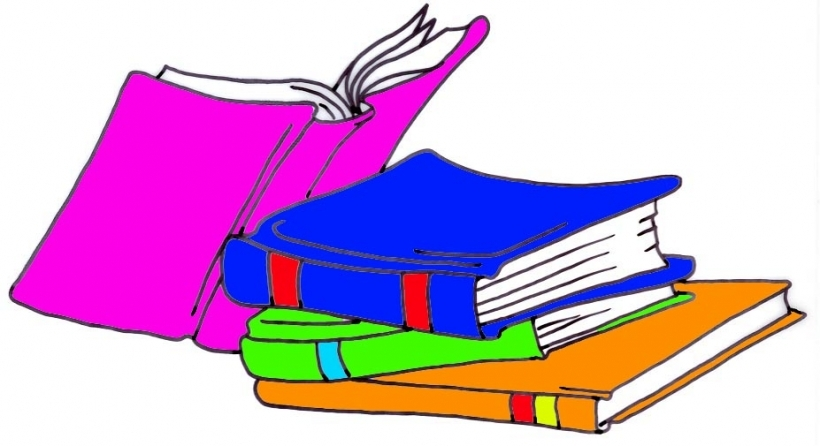 Clipart Of Books And Reading.