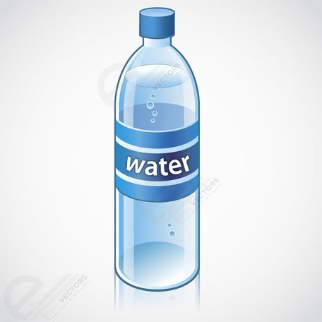 Water bottle vector object free download, Clipart.