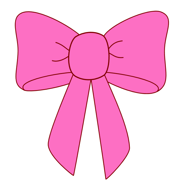 Pink Bow Ribbon Clipart Clipart Kid.